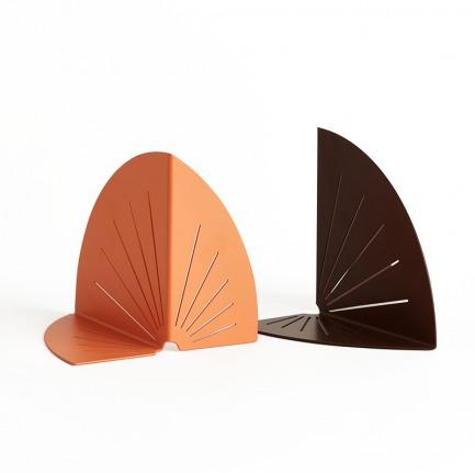 颜色/橙棕书挡一对