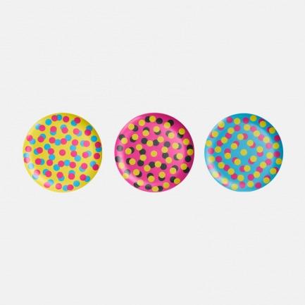 颜色/彩色波点(3个/套)