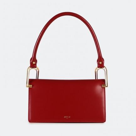 颜色/朱砂红平纹 方块包