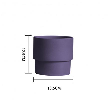 颜色/茄紫花盆