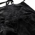〈李合张LHZ〉2018 THE CIRCUS 棉麻复合绒面刺绣单肩斜跨包