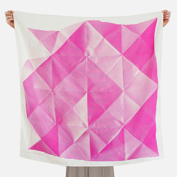 折纸现代简约风吕敷丝巾(多色)