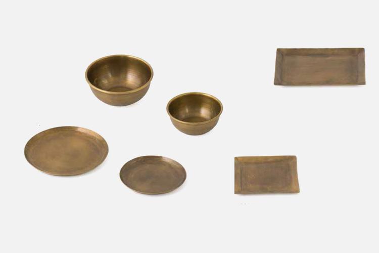 矩形手工铜盘