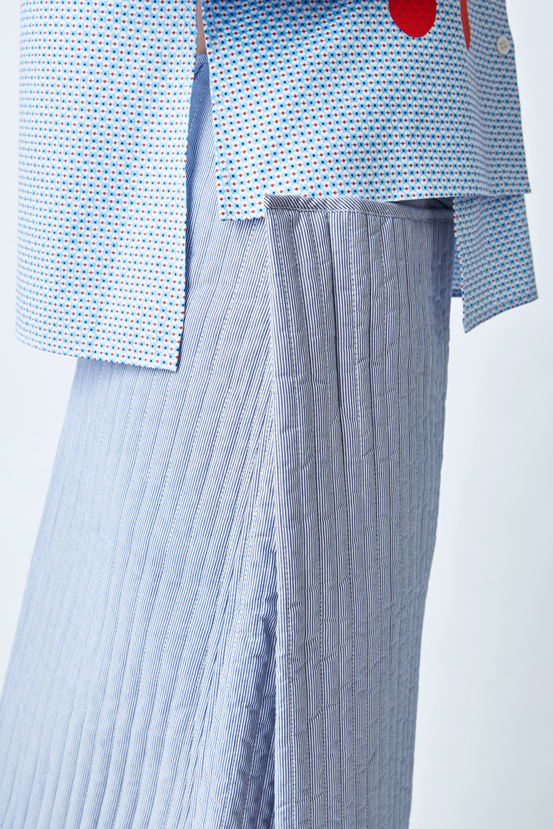 秋冬系列 条纹 碎花及膝棉裙