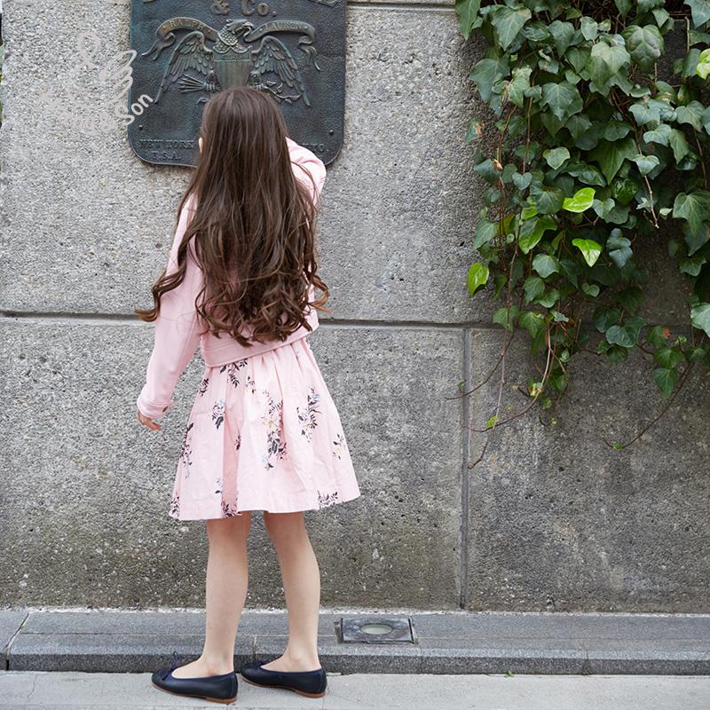 印花气质半裙