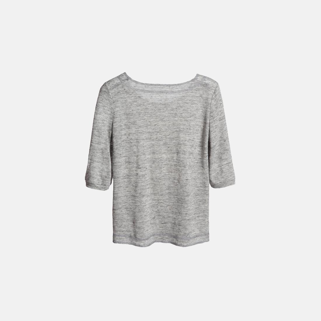 亚麻七分袖T恤