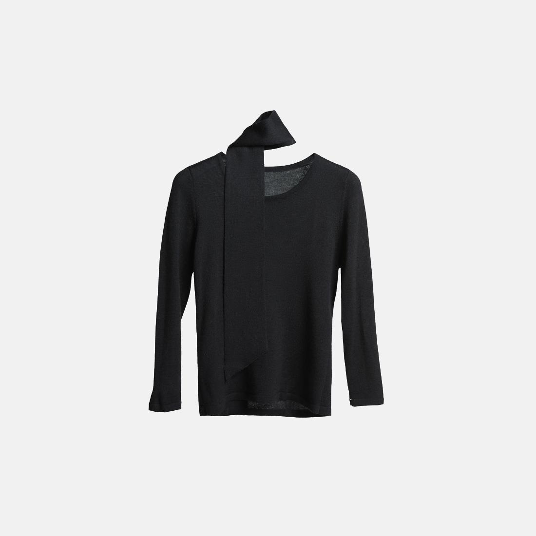 黑色芭蕾毛衣
