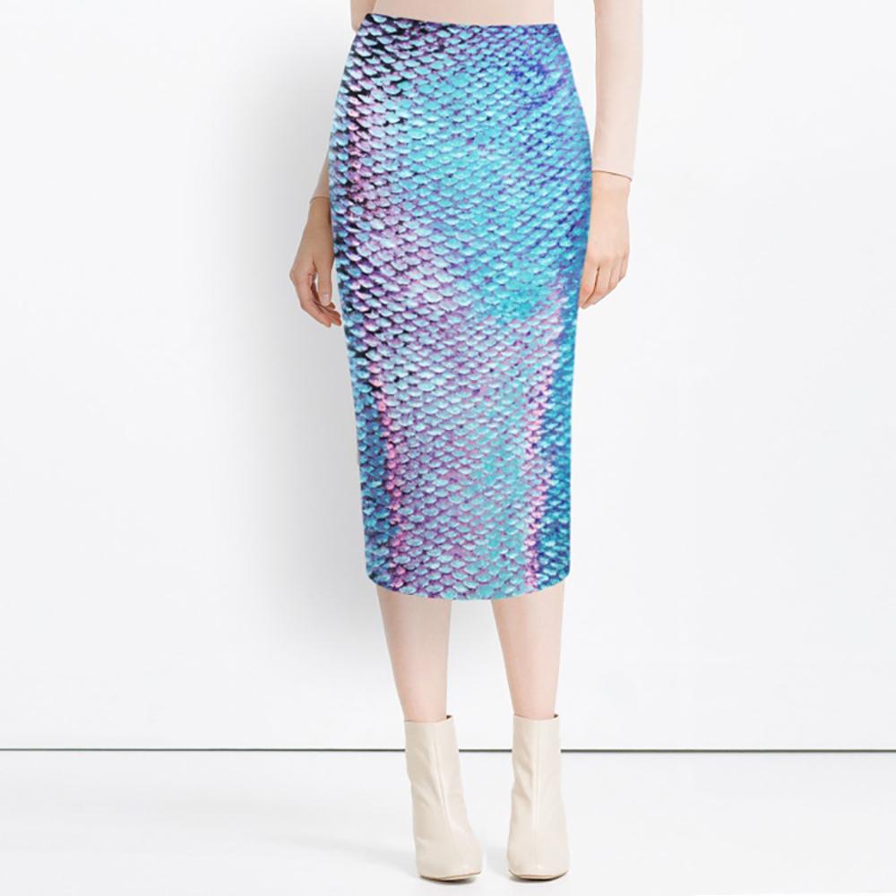 蓝色美人鱼半身裙