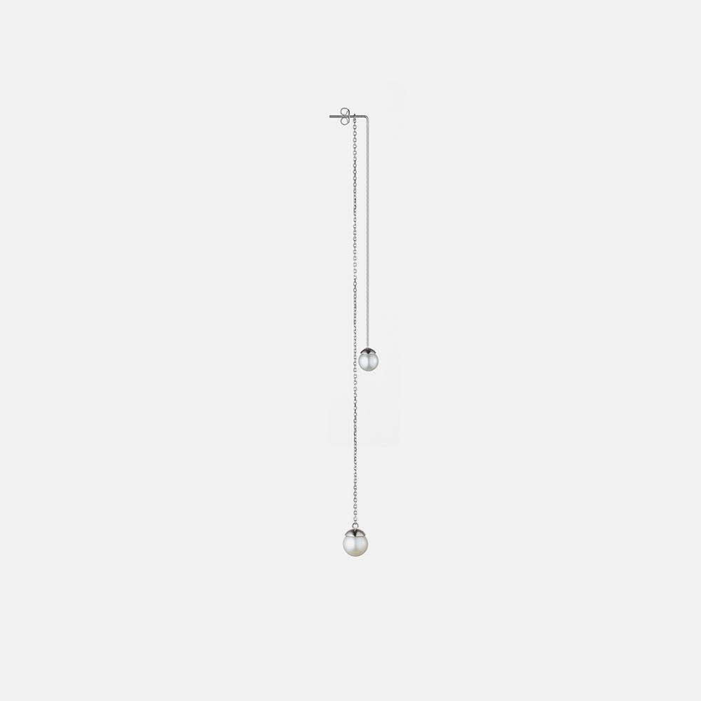流线型贝珠长耳坠 4款可选 | 一线一链 多种戴法 925银