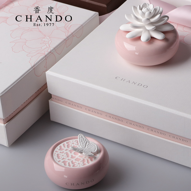 玫瑰花园 家居陶瓷香氛礼盒   造型别致优雅 精致礼盒装