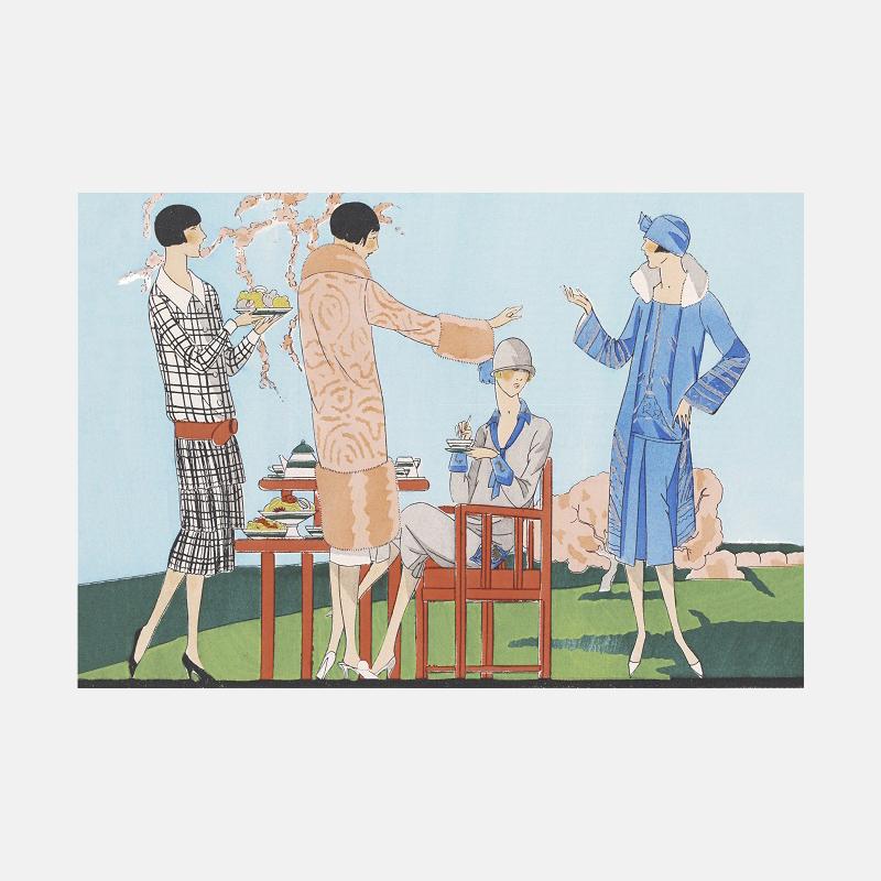 家居装饰画下午茶花园派对 | 描绘追求摩登生活的女郎