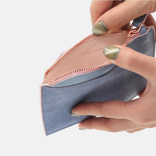 拼皮零钱包 | OFF-Cube系列 轻薄简洁手工打造【蓝色】
