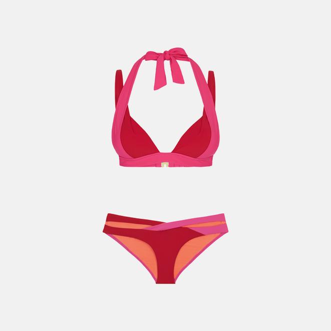 HEIDI KLUM 撞色比基尼   Savannah Sunset 系列 沙滩主题撞色设计