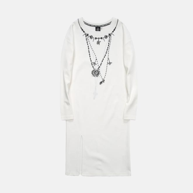 极美藏饰长袖T恤 | 唯美民族风印花元素设计【黑白两色】